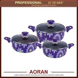 Widely Use Factory Direct Sale 6 pcs Porcelain Enamel Cookware