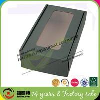 Custom corrugated wine gift box with transparent window