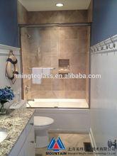interior frameless sliding glass door system