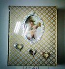 heart shape glass cover photo album for lovers