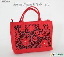 2014 hot sale special design wool felt bag,felt wallet