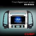 2014ใหม่รถเครื่องเล่นดีวีดีgpsซอฟต์แวร์สำหรับinokomsantafe2007- 2012กับบลูทูธ, จีพีเอส, ฟังก์ชั่นการควบคุมipod