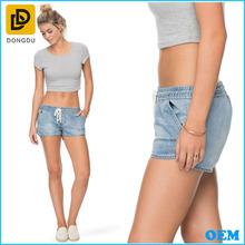 venta al por mayor de jean pantalones pantalones cortos mujer denim lavados cortos