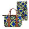 Guaranteed quality fashion model leather handbags African handbags matching hollandais wax fabric HW4121441B