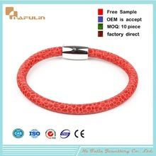 Fashion Lamb Hope Wholesale Leather Bracelets With Snap