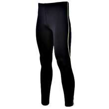 Low price Single run long pants stretch tight sports fitness pants with reflective zipper