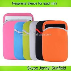 Universal Soft neoprene sleeve bag for ipad mini , for ipad sleeve