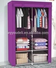 Novo estilo de venda quente europeu do armário de pano, Não tecido dobrável guarda-roupa de cama