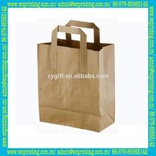 alibaba china custom brown recycle flat handle paper grocery bag