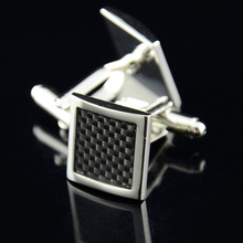 Fashion mens metal replica best man gifts french square rhinestone suit cufflink