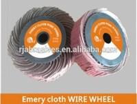 Aluminium oxide emery cloth wire wheel