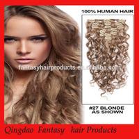 100% human hair clip in deep afro curl Brazilian hair extensions for black women