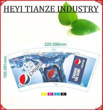 Kağıt malzeme ve tek duvar tarzı kağıt yoğurt kabı/icecream fincan