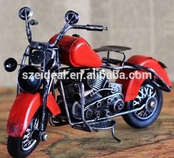 2015 hot sale metal crafts vintage motorcycle model for sale home decoration