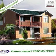 2014 new design fast installation prefab villa/prefabricated beach house
