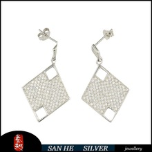wholesale 925 sterling silver earring with zircon in china