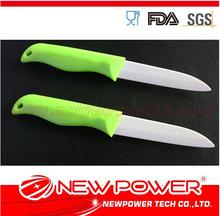 Couteau en céramique 4'' 5''/abs vert multi- couteau fonction de fabrication de matériaux