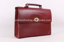 Reddish Brown Antique Leather Shoulder Strap Briefcase