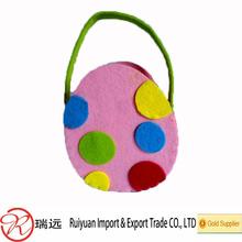 2015 New arrival !!! Easter Egg Design felt basket as promotional gift