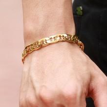 2015 Fashion Jewelry Mens 18K Gold Bracelet Jewelry
