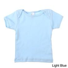 American Apparel Plain Baby Rib Short Sleeve Lap T Shirts for Kids