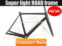 chinese OEM inner cable design super light road bike frame carbon 58cm