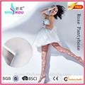 sexy 2015 fina flor rosa jacquard pantyhose meias de seda
