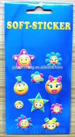 2015 Wholesale Smile Face PU Foam Puffy Stickers