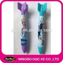 Rocket plastic pen,Cartoon fat shape clip top,customized pen
