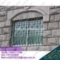 Ventana de hierro forjado balcón/moderno de la ventana de hierro parrilla diseños/ventana de hierro