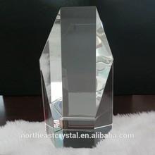 Diamond Column 3D Laser Etched Glass Cube