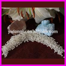 2015 wholesale 12mm ABS plastic pearl beads/ half flat back plastic decoration pearls