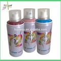 Pulverización de tinte de pelo corporal temporal instantánea lavable color de pelo aerosol