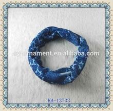 Blue girl headwrap fabric headwear