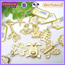 15mm various little animal charm matte gold jewelry