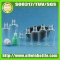 Kunden aus kunststoff pet tropfflaschen spezielle form glasflasche
