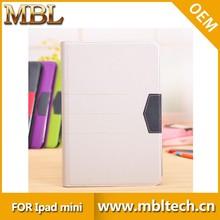 cheap mini pc pu for ipad mini case, wallet waterproof case cover for mini ipad