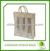 Wholesale jute bags wine bottle bags