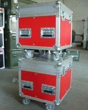 High Quality Red Aluminum Storage Box/case With Wheels