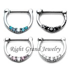 16G Septum Ring Body Piercing Jewelry Surgical Steel Septum Clicker