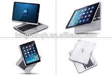 360 degree rotating Bluetooth keyboard for iPad air , laptop mini external keyboards 360 rotate bluetooth keyboard for ipad air