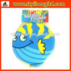 Summer sports toy foam frisbee cheap water sponge frisby flying disc