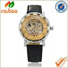2015 Fashion design skeleton automatic mechanical watch OEM/ODM