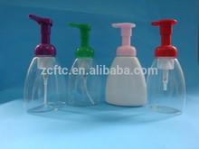 HDPE foaming bottle, 100ml 150ml plastic foam bottle with foaming pump, plastic cosmetic bottle
