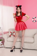 adult red sexy mini mouse carnival costume
