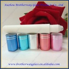 white long and slim cosmetic container roll on glass bottle with stainless steel roller