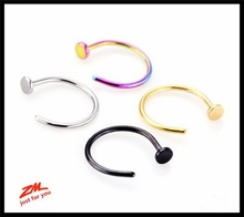 Set 18 Gauge (1mm) 3/8 Inch Length (10mm) 12 Pieces - (6 Pairs) Nose Ring Hoop