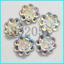 Transparent AB Flower Shape cabochons wholesale