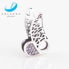 Yiwu Sterling Silver 925 Angel wings Purple Crystal Jewelry