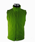 Popular Men's Work Wear For Super Market Sleeveless Green Color Polar Fleece Double Brush,Anti-pilling one side OEM